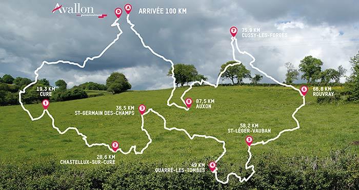 Parcours Oxfam Trailwalker en Morvan