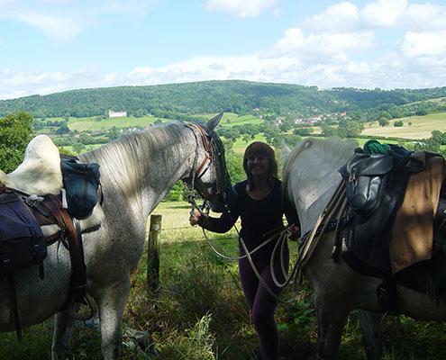 Randonnee equestre morvan