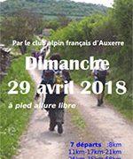 Randonnée Auxerre Vézelay 2018